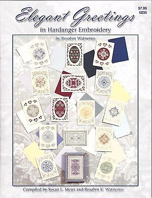 Elegant Greetings in Hardanger Embroidery #0235 by Rosalyn Watnemo
