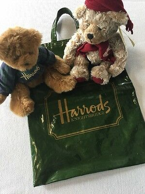 Harrods Bears (2) And Green Tote bag