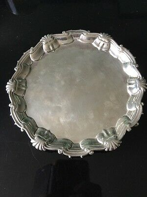 George II Silver Butler Tray Rare Maker