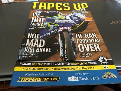 Ipswich Witches V Sheffield Tigers--Rain Off--Speedway Programme--17Th May 2017