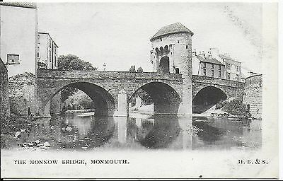 Lovely Rare Vintage Postcard, The Monnow Bridge,monmouth