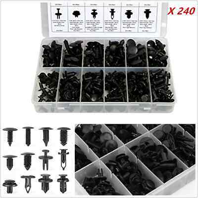 240pcs 12 Sizes Car Autos Body Retainer Push Pin Rivet Clip Mouldings Trim Panel