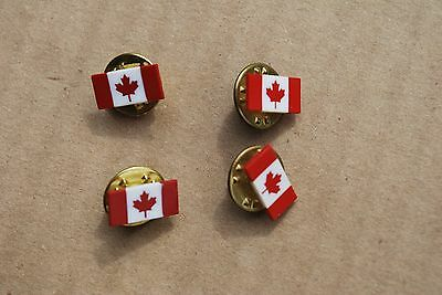 Canada Flag Mini Lapel Pins 1/2 Inch Wide Lot Of 4 / Buy More No Extra Shipping