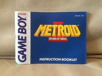 Metroid II : Return Of Samus - Nintendo Game Boy Instruction Manual - RARE - 2