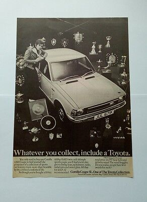 Toyota Corrolla 1200 Coupe SL Advert from 1972 - Original Advertisement Ad