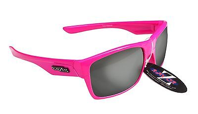 RayZor Uv400 424 Neon Pink Framed Smoked Mirrored Lens Archery Sunglasses RRP£49