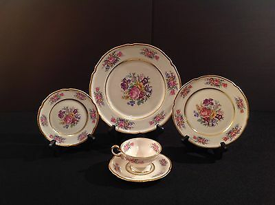 Castleton Rose China Five (5) Piece Place Setting USA - Multiple Available