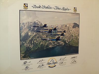 """2016 US NAVY BLUE ANGELS """"70th Anniversary Year"""" 16 x 20 large LITHO Authentic"""