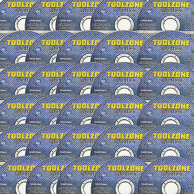"20 x ANGLE GRINDER 4 1/2"" + THIN METAL CUTTING DISCS + 115mm 1mm x 22.2mm Bore"