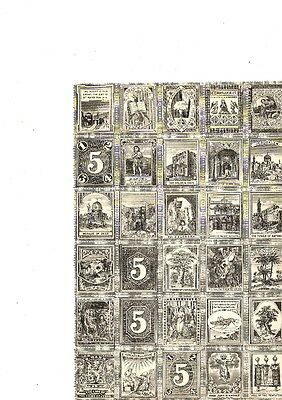 Cinderellas - 3 sheets of Sunday School stamps -  early 20th Century