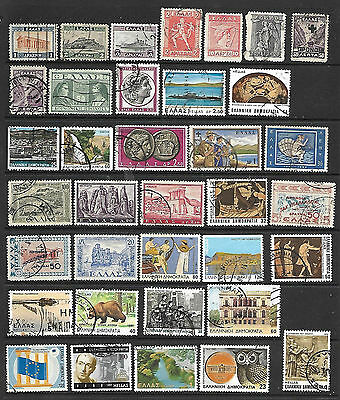 Collection Of Greece Stamps