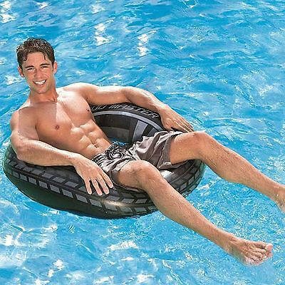 LARGE 91cm INFLATABLE SWIM RING SWIMMING LILO TYRE TUBE FLOAT BEACH POOL TOY