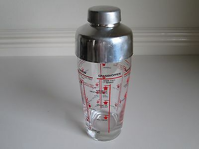 Vintage Retro 1960s Cocktail Shaker With Cap