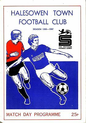 HALESOWEN TOWN v REDDITCH UTD 1986/87 SOUTHERN LEAGUE CUP