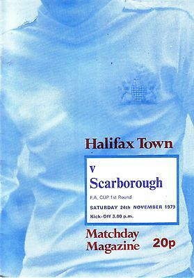 HALIFAX v SCARBOROUGH 1979/80 FA CUP 1ST ROUND