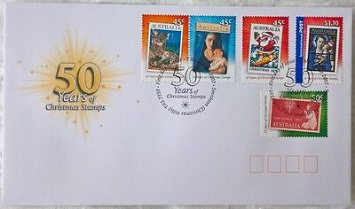 Australia Stamps, First Day Cover, Christmas 2007, 50 Years of Christmas Stamps