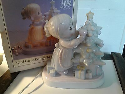 Precious Moments God Cared Enough To Send His Best Lamp 1993