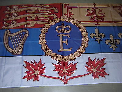 NEW Reproduced British Empire Flag Royal standard of Canada QEII Ensign 3X5ft