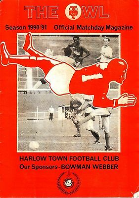 HARLOW TOWN v BARNET 1990/91 FA CUP 3RD QUALIFYING ROUND