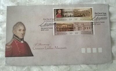 Australia Stamps, First Day Cover, Governor Lachlan Macquarie, 16/2/2010