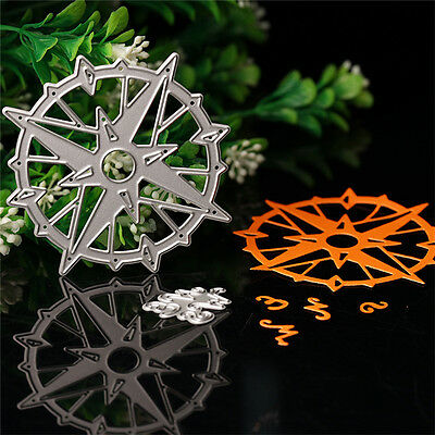 Compass Cutting Dies Stencil DIY Scrapbooking Album Paper Card Embossing Craft