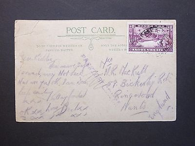 Sierra Leone KGVI 2d Fourah Bay Road Freetown Postcard PASSED BY CENSOR to Hants
