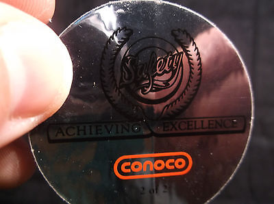 CONOCO Safety Achieving Excellence 2 of 2 Vintage Original Mine Industry Sticker