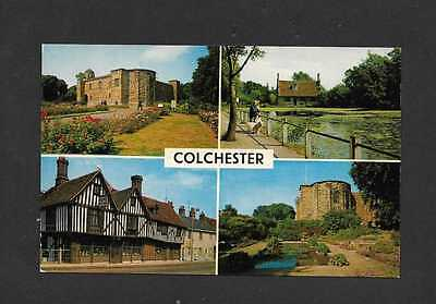 Colchester, Great Britain Multi View Postcard (Buildings)