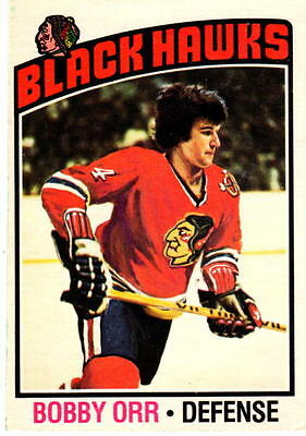 NHL Trading Card---Bobby Orr---Chicago Black Hawks---1976/1977--OPC--sehr selten