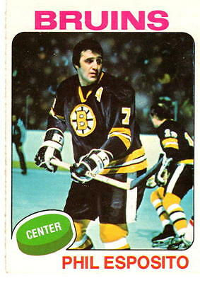 NHL Trading Card---Phil Esposito--Boston Bruins---1975/1976--OPC--sehr selten