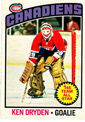 NHL Trading Card---Ken Dryden--Montreal Canadiens---1976/1977-OPC--sehr selten