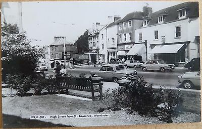 RP Postcard of High Street, Warminster, Wiltshire.