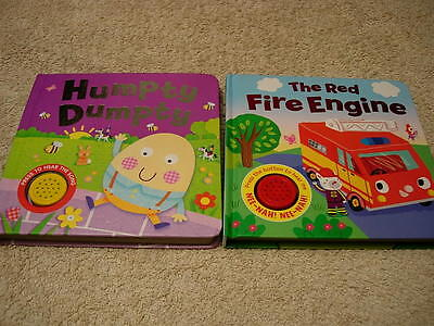 2 baby Books ,Humpty Dumpty and The Red Fire Engine , by Igloo Books