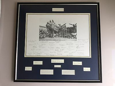 Raf Bomber Command Tribute High Maintenance Framed 49 Signed Print 4 Vc Winners