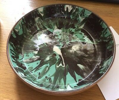 Vintage Holkham Studio Pottery Dish Signed  Hand Painted