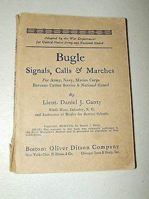 Bugle Signals, Calls and Marches for Army, Navy, Marine Corps ORIGINAL 1917 WWI