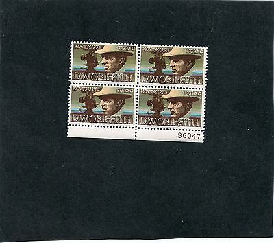 #1555 -Plate Block of 4.  Double Impression  - MNH .