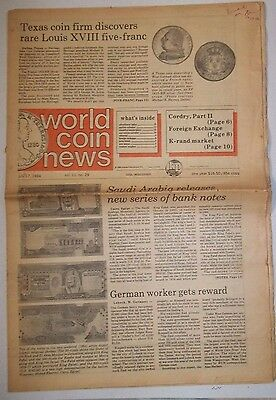 World Coin News Journal July 1984 Artical On Saudi Arab Notes With Kaaba & Mecca