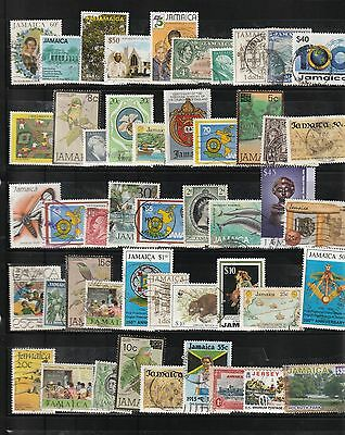 Stamps of Jamaica - 45+ Different Used.