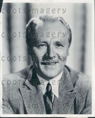 1953 Wire Photo Charles Ruggles Actor