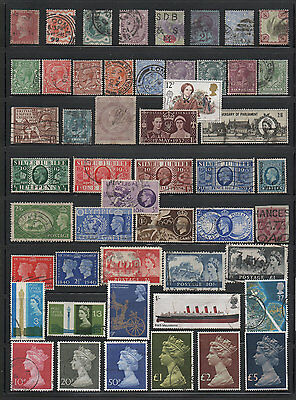 Great Britain, Old used Stamp Assortment