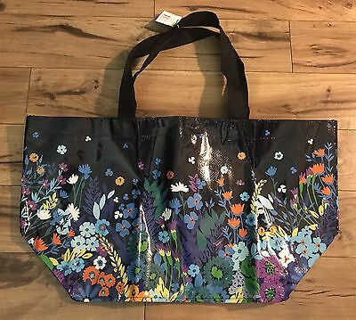 NWT Vera Bradley Large Market Tote in Midnight Blues Eco Bag