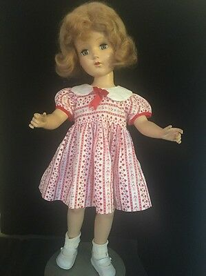 """Adorable Vintage Hard Plastic R&B 20"""" Doll Red Hair 1950s"""