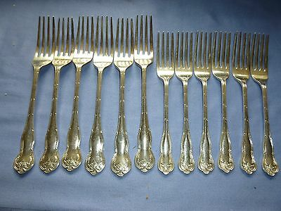 Job Lot Vintage Collectable Cutlery 2 Sets Silver Plated Dinner Forks Fte & S A1