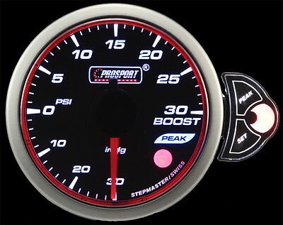 """Halo Boost Gauge Amber/White/Blue 52mm (2 1/16"""") With Peak/Warn dimmable"""