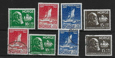 Norway. 1941. Lifeboat. mm & used (8)