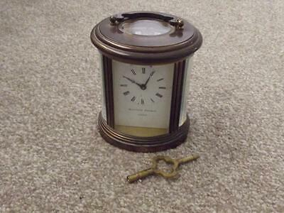 Rare Oval Vintage Matthew Norman London   Brass Carriage Clock   Estate Cleared