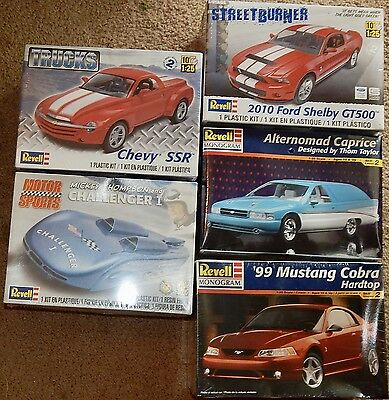 5 Kits ~ Shelby GT500, Chevy SSR Truck, Mustang Cobra, Caprice, Challenger I