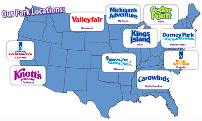 4 tickets to any Cedar Fair Park, great america, kings dominion & many more