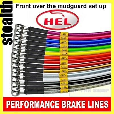 Yamaha XJ6 N '2010 HEL Stainless Brake lines / hose kit Crossover